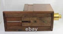 Chambre à tiroir en noyer format pleine plaque 22,5 x 17 cm France Vers 1850-55