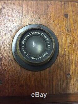 Chambre bois Photographique 18x25 Bon Etat Avec Objectif Protar zeiss