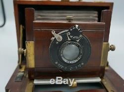 Chambre de voyage à soufflet, Roussel, appareil photo ancien, 1900