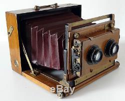 Chambre photographiqAtue stéreo à abattant, obturateur Normal ParisDos 13x18cm