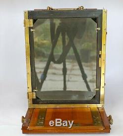 Chambre photographique 18 x 24 objectif Berthiot 14 175 mm 2 châssis
