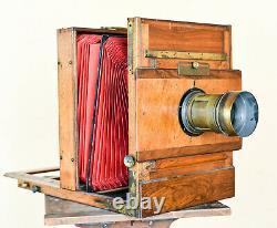Chambre photographique 30x40 cm Mackenstein Paris + objectif VOIGTLÄNDER & Sohn