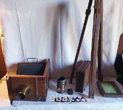 Chambre photographique BOULADE frères XIXEME + accessoires