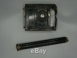 Chambre photographique C. P. Goerz, appareil photo à soufflet, avec trépied, 1900