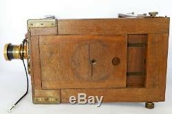 Chambre photographique à soufflet 13x18 wood camera objectif Buchler + 6 chassis