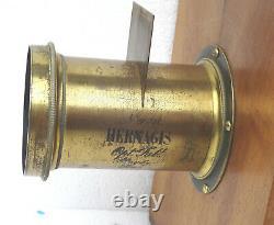 Chambre photographique à tiroir Daguerréotype 1/2 plaque Env. 1860 OBJ HERMAGIS