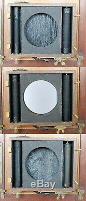 Chambre photographique acajou DEMARIA LAPIERRE 13x18 objectif Hermagis N°7