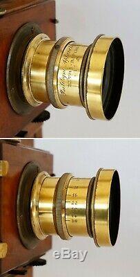 Chambre photographique acajou format 13x18 + 1 châssis double