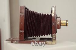 Chambre photographique ancienne Soufflet rouge Format 13X18