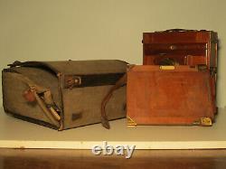 Chambre photographique bois 13x18 soufflet cuir objectif Zeiss