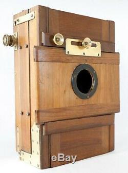 Chambre photographique en bois 13 x 18 crémaillère sans objectif