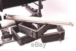 Chambre photographique monorail Plaubel Peco Profia avec objectif et accessoires