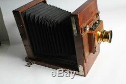 Chambre photographique objectif Hélium Rectiligne aplanétique (45451)