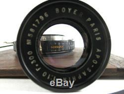 Compound Shutter + Boyer Paris Apo Saphir F300 Rare Objectif De Chambre + Boite