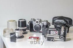 Contarex Bull eye Set / Planar / Sonnar / Bellows. Leica, Zeiss, Contax
