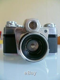 Contarex Zeiss Ikon Bullseye + Planar 12 F=50mm + Etui