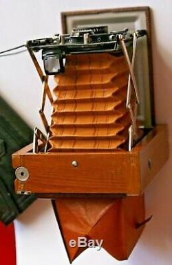 Contessa Nettel TROPICAL 6x9 cm, Tessar 12 cm/4,5, Compur, + 3 châssis. Minty