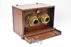 DALLMEYER Appareil photographique stéréoscopique à tiroir
