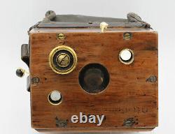 DETECTIVE Hüttig à poche pour plaques 6 x 9 cm Dresde Allemagne Vers 1890