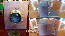 Daguerréotype Chambre à tiroir Pleine plaque Chambre daguerrienne grande taille
