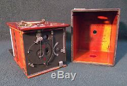 Eastman Kodak No. 2 Bullseye, Rochester USA Antique Mahogany & Brass Plate Camera