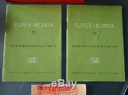 Etat Exceptionnel-zeiss-ikon Super Ikonta 4 (534/16)-boite D'origine-paresoleil