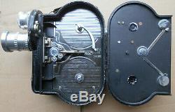 Etm P16 16 MM Camera Vintage N° 1077 Annee 1947/1948 Avec 2 Objectifs + 2 Films