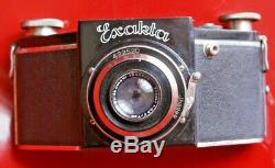 Exakta Ihagee 4 x 6,5 cm, rare type B, + Zeiss Tessar 3,5/7cm + sac