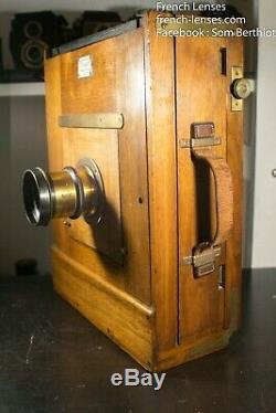 French R. Juckert large format wooden camera 24x18 + W. Brown London lens