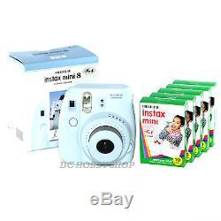 Fuji instax mini 8 blue Fujifilm instant camera + 50 film