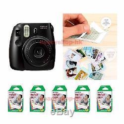 Fujifilm Fuji Instax Mini 8 Instant Polaroid Camera Black + 50 Film Photo shot
