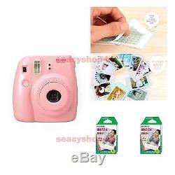 Fujifilm Fuji Instax Mini 8 Instant Polaroid Camera Pink + 20 Film Photo shot