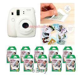 Fujifilm Fuji Instax Mini 8 Instant Polaroid Camera White + 100 Film Photo shot