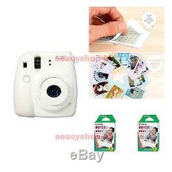 Fujifilm Fuji Instax Mini 8 Instant Polaroid Camera White + 20 Film Photo shot
