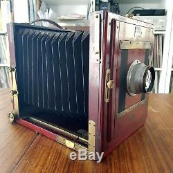 GAUMONT 13x18 mahogany camera + lens BOYER Saphir 4.5 210mm large format