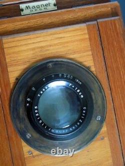 GRAND APPAREIL PHOTO MAGNET REFLEX D. R. G. M 8,5 x11cm EN BOIS