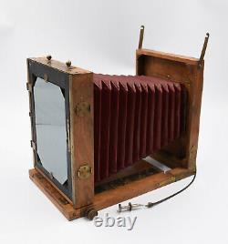 Grande Chambre photographique avec soufflet appareil photo ancien