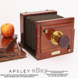 Halfplate Mahogany & Brass Tailboard Camera By Stereoscopic Co, London