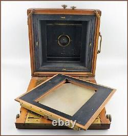 Hermagis Chambre Photo Bois Laiton 13x18 Trousse Objectifs Aplanastigmatique n°7