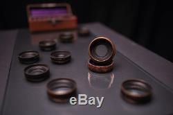 Holzkamera 13x18 mit seltenem Objektivsatz und 3 Holzkassetten