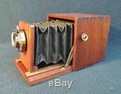 Houghtons, Blair, Watson, English / USA Antique Mahogany & Brass Plate Camera