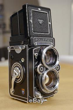 IN VERY NICE CONDITION ROLLEIFLEX XENOTAR 80MM 2,8F TELOS and accessoirs