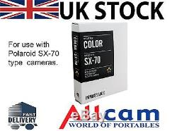 Impossible PX70 Colour Instant Film for Polaroid SX70 Cameras Color New