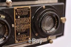 Jeanneret Appareil stéréo-panoramique Le Monobloc 6x13 avec manuel et trépied