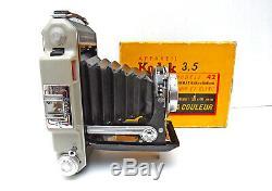 KODAK Folding 6x9 FRANCE Modele 42 objectif ANGENIEUX 3,5/100mm EXC
