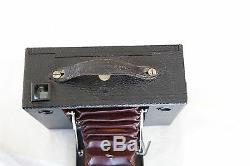 KODAK Nº 4 Cartouche Cartridge soufflet cuir rouge sacoche cuir Excellent