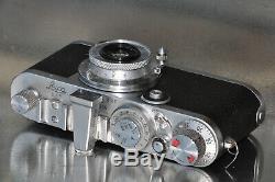 LEICA IC modifié IF avec ELMAR 35 mm et rare viseur WEISU ensemble fonctionnel