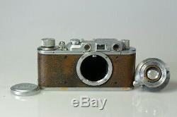 LEICA II Couplex Modèle D de 1935 + Leitz Elmar 3,5 de 50mm Testé, fonctionnel