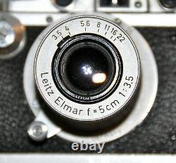 LEICA LEITZ MOOLY MOTEUR AVEC BARRETTE + LEICA 3a 1935 + ELMAR 3.5/50 mm