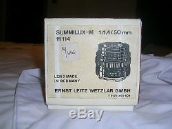 LEITZ SUMMILUX-M CAMERA LENS 11,4/50